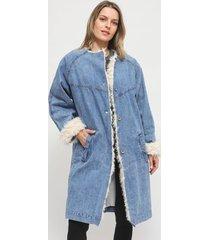 abrigo colcci azul - calce regular