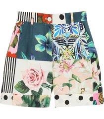 dolce & gabbana patchwork shorts
