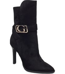 teca/stivaletto /suede shoes boots ankle boots ankle boot - heel svart guess