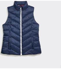 tommy hilfiger women's adaptive puffer vest masters navy - xs