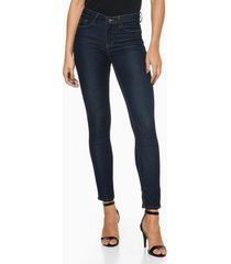 calça jeans feminina five pockets jegging azul marinho calvin klein - 34