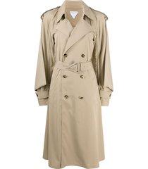bottega veneta wide sleeves trench coat - neutrals