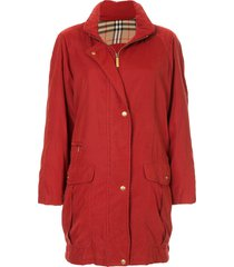 burberry pre-owned long sleeve jacket - red