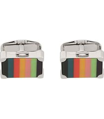 paul smith suitcase cufflinks - black