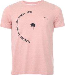camiseta handbook lettering rosa - rosa - masculino - algodã£o - dafiti