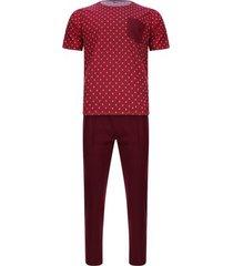 pijama camiseta corta pantalón largo color morado, talla s