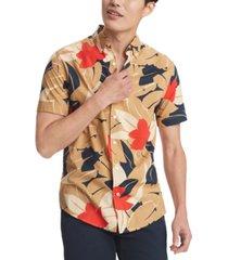 tommy hilfiger men's scott tropical print shirt, created for macy's