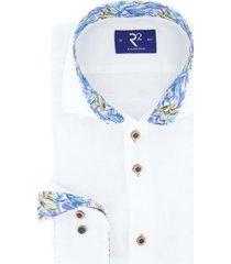 overhemd r2 wit linnen