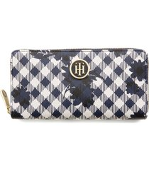 billetera grande honey print tommy hilfiger