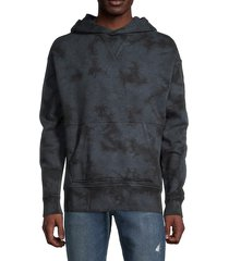 marble cotton french terry hoodie