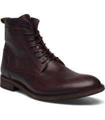 biadaimon laced up boot snörade stövlar brun bianco