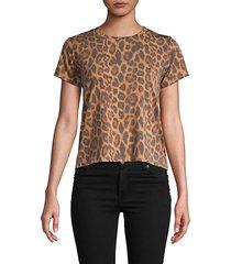 leopard-print short-sleeve tee