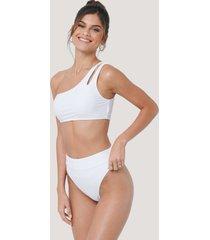 na-kd swimwear maxi highwaist bikini panty - white