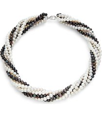 effy women's sterling silver & freshwater pearl beaded necklace