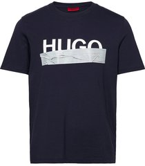 dicagolino_u204 t-shirts short-sleeved blå hugo