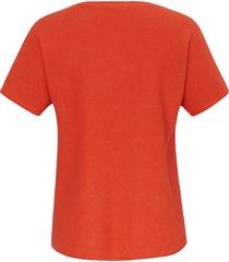 trui met korte mouwen van emilia lay oranje
