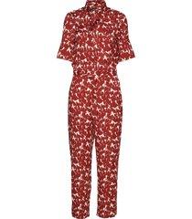 slzaldana jumpsuit print jumpsuit rood soaked in luxury