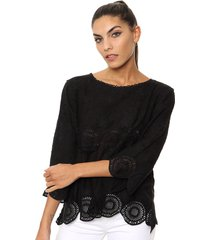 blusa negra laila heather