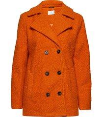 kabella boucle coat outerwear jackets wool jackets oranje kaffe