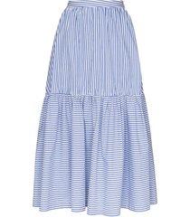 staud orchid striped maxi skirt - blue