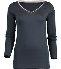 v-neck monili piping jersey top