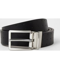 river island mens black ri embossed reversible belt