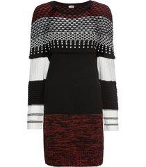 abito in maglia jacquard (nero) - bodyflirt boutique