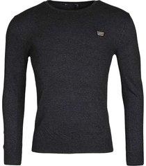 antony morato sweater round collar&plaquette dark grey 9004