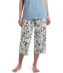 hue women's beach travel classic capri pajama pants
