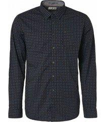 blauw heren overhemd no excess - 92480721 078