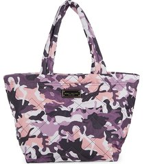 marc jacobs women's quilted nylon camo print tote - purple camo