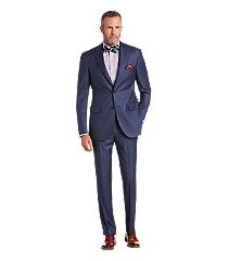 signature gold collection tailored fit herringbone men's suit by jos. a. bank
