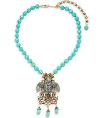 soaring eagle multicolor crystal pendant necklace