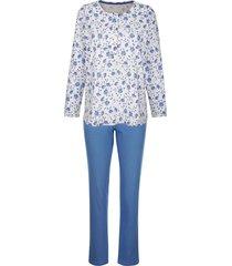 pyjama harmony ecru::donkerblauw::fuchsia