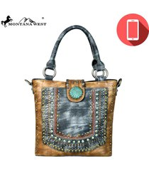 3 colors phone charger patina concho montana west purse crossbody tote mw575p