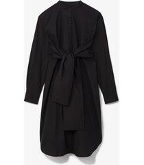 proenza schouler white label poplin tied shirt dress black 4