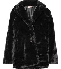 jennabel jacket outerwear faux fur zwart unmade copenhagen