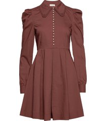 lucy korte jurk bruin custommade
