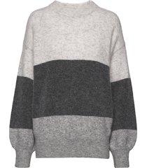 zina sweater gebreide trui grijs twist & tango