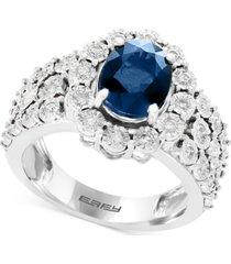 effy sapphire (1-9/10 ct. t.w.) & diamond (1/2 ct. t.w.) ring in 14k white gold