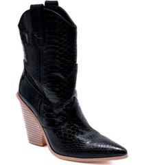 cape robbin women's fever western booties women's shoes