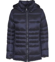colmar blue down jacket with belt
