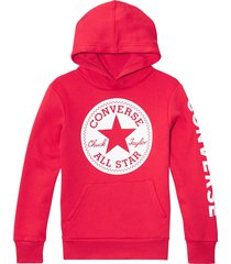 converse suéter fleece chuck taylor patch red