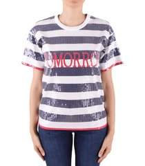 alberta ferretti tomorrow sequined t-shirt