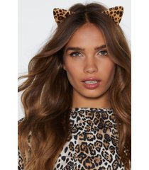 womens the cat's meow leopard headband - brown