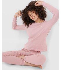 pijama hering textura rosa