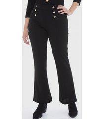 pantalón botones costado negro lorenzo di pontti