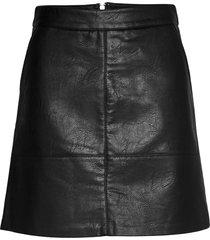onllisa faux leather skirt cc otw kort kjol svart only