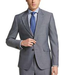 james tattersall kings cross gray stripe extreme slim fit suit