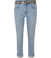 stella mccartney belted cropped jeans